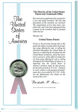 米国特許(USP9302150)